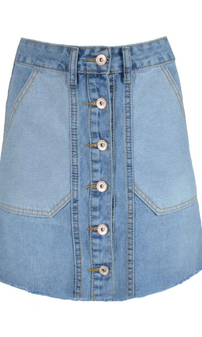 DENIM SKIRT BLUE