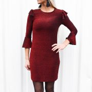 DAISY FLARED DRESS RED