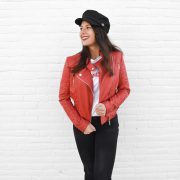 BIKERJACKET RED
