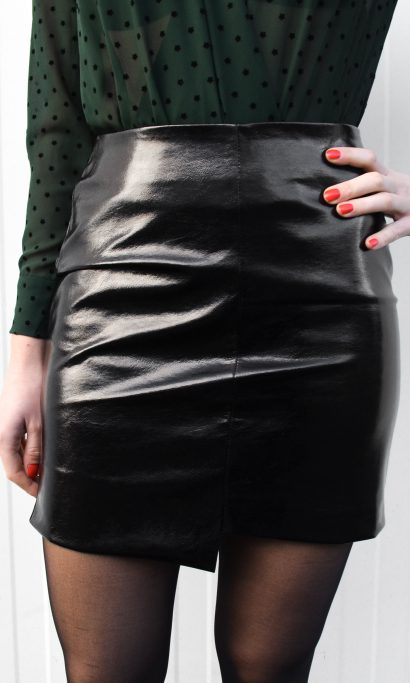 MY METALLIC SKIRT BLACK