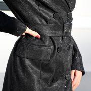 LILIAN BLAZER GLITTER DRESS BLACK