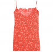LILLY LACE DOTS TOP RED