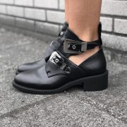 JAIMY BELTED BOOTS BLACK