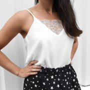 LIZZY LACE TOP WHITE