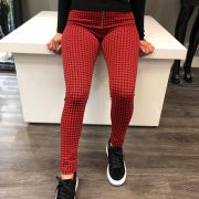 CHECKERED PANTALON RED