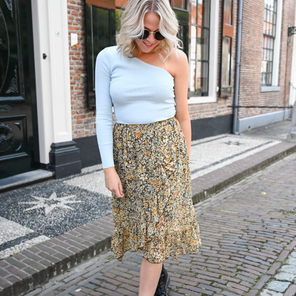 MAY ONE SHOULDER TOP BEIGE Memali.nl