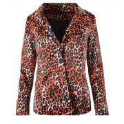 LEOPARD BLAZER RED