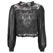 SILL LACE BLOUSE BLACK -3