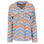 MEL STRIPED JACKET BLUE