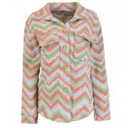 MEL STRIPED JACKET GREEN