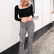 MADELIEF FLARED PANTS BLACK