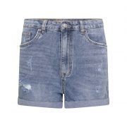 MOM FIT SHORT JEANS BLUE