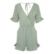 AMI DOT PLAYSUIT GREEN