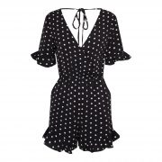 AMI DOT PLAYSUIT BLACK