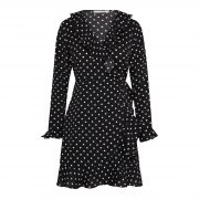 SALLY DOTS DRESS BLACK