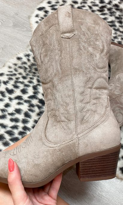 ROMY COW BOOTS TAUPE