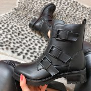 DILLA BELTED BOOTS BLACK