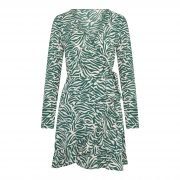 MELAYIE ZEBRA DRESS GREEN