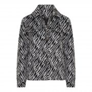 TESS ZEBRA JACKET WHITE