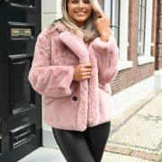 KELLY FAUX FUR JACKET PINK