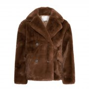 KELLY FAUX FUR JACKET BROWN