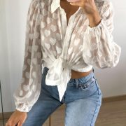 YARAH HEARTS BLOUSE WHITE
