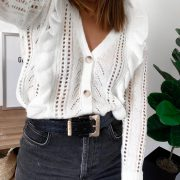 LINS SWEATER WHITE