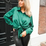 JUUL SATIN BLOUSE GREEN