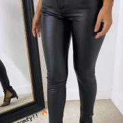 LOISA LEATHER SPLIT PANTS