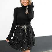 CARLIE LEO SKIRT BLACK