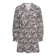 LYDIA ZEBRA DRESS WHITE