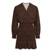 LYDIA ZEBRA DRESS BROWN