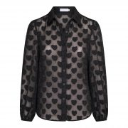 YARAH HEARTS BLOUSE BLACK