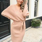OLIVYA DRESS BROWN