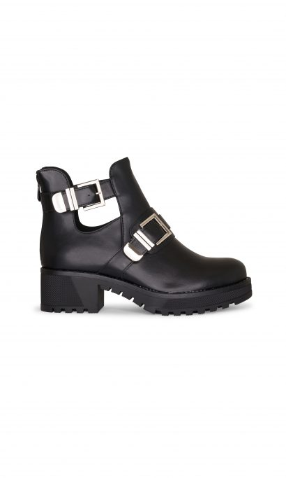 YUNA CUT OUT BOOTS BLACK