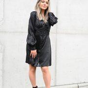 FIEN LEOPARD DRESS BLACK
