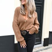 FLAIRE CARDIGAN BROWN