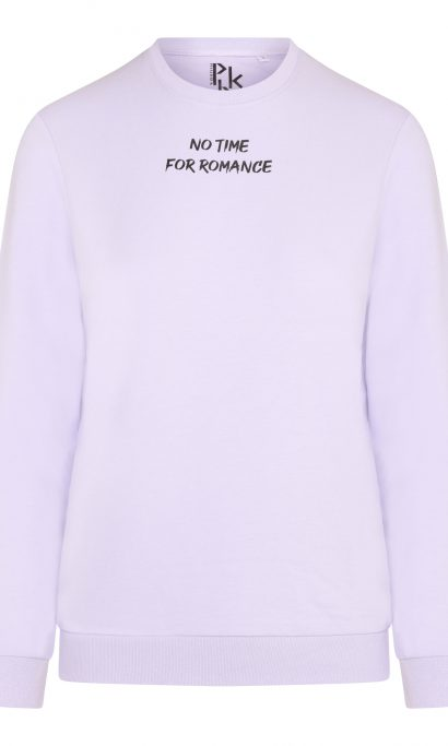 NO TIME FOR ROMANCE SWEATER LILA
