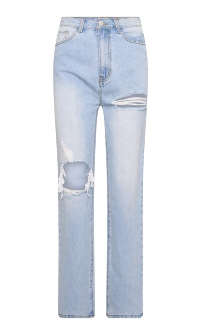 IZA STRAIGHT LEG JEANS BLUE