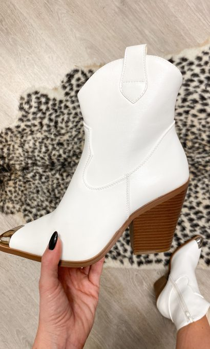 SHIRLEY WESTERN BOOTS WHITE