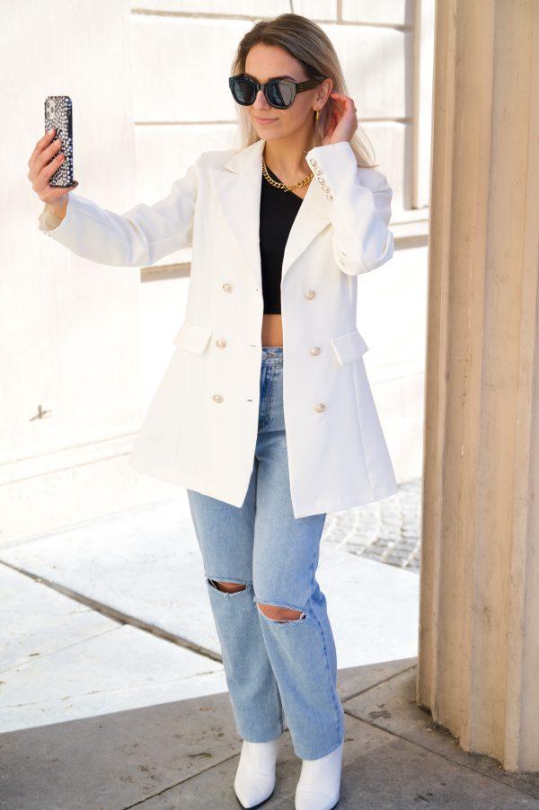 Bonny blazer white