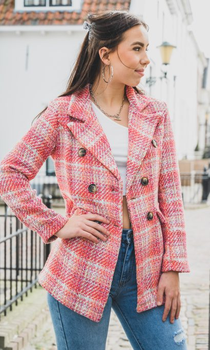 MONERA TWEED BLAZER PINK