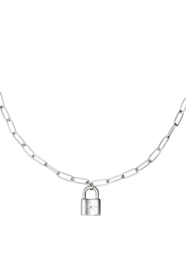MARIS LOCK NECKLACE SILVER