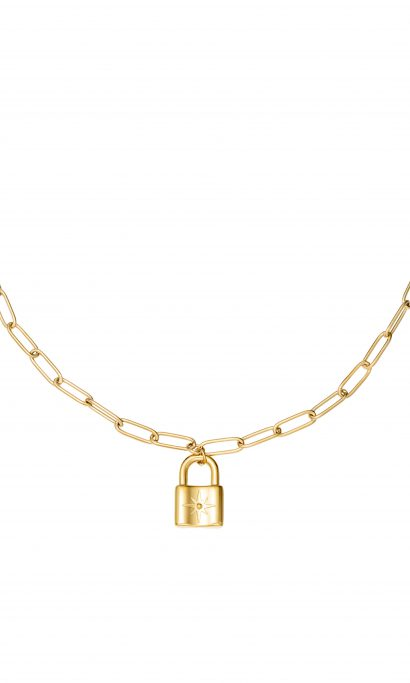 MARIS LOCK NECKLACE GOLD