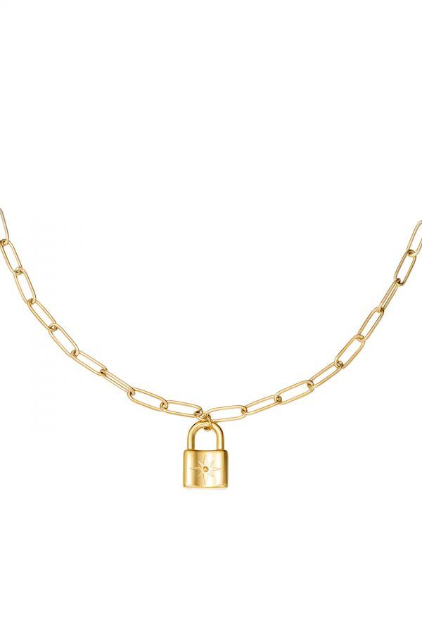MARIS LOCK NECKLACE GOLD