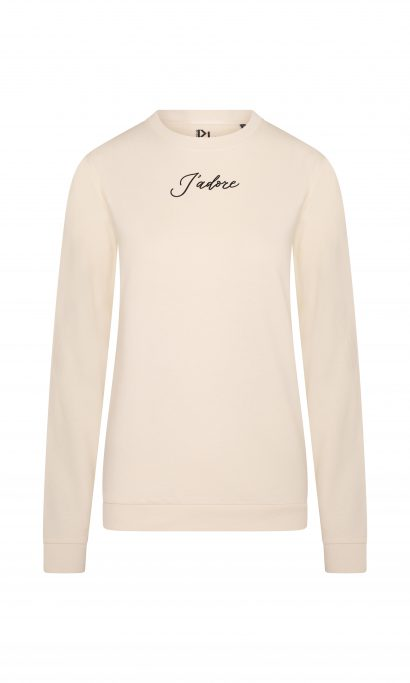 J'ADORE SWEATER TAUPE BLACK