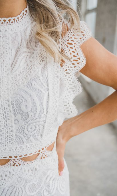 KIM LACE DRESS WHITE