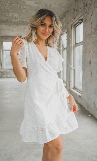 SHIRLEY LACE DRESS WHITE