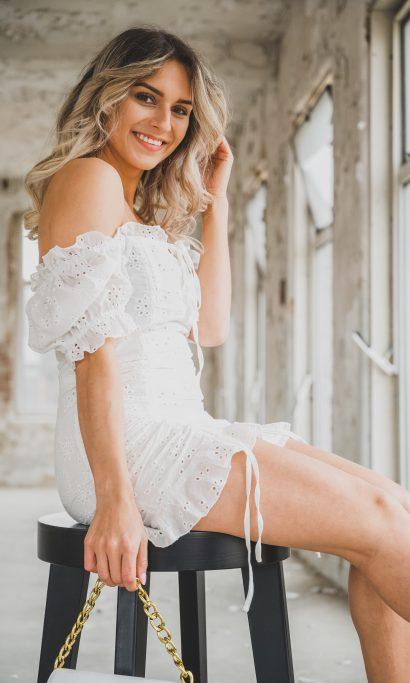 SUSA DRESS WHITE