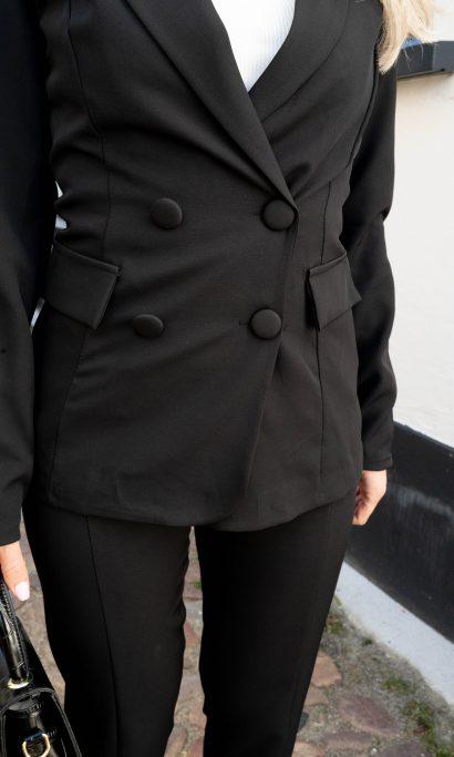 ELOISE BLAZER PANTALON SET BLACK